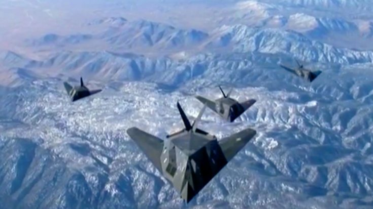 4 Retired F-117 Nighthawks Unite In Epic Formation | World War Wings Videos