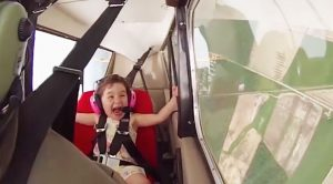 Dad Takes His Little Girl On A Stunt Ride-Her Reaction Is Epic