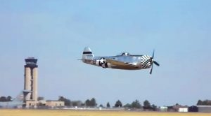 Guy Captures A Nice, Low, Rumbling P-47 Thunderbolt Flyby