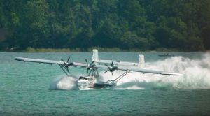 Stunt Pilot Hits Water Debris With A Vintage Plane-Goes Into Violent Spin