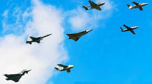 Historic Fighter Team Soaring In Tight Formation