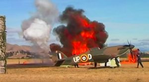 Speeding Fighters Soar In Explosive Battle Of Britain Reenactment