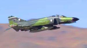Dynamic F-4 Phantom Blasting Through The Mountains