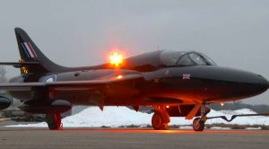 Sleek Hawker Hunter Unleashes Loud Booming Engine