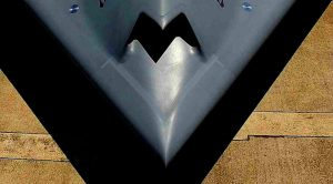 Advanced Unmanned Stealth Bomber Makes First Flight