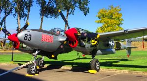 P-38 Lightning's Powerful Engines Hit 2600 RPM And The Trees Start Shaking