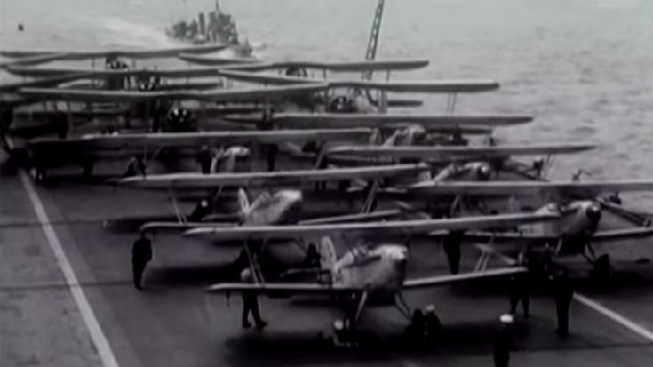 Historic Film Reel Of Obsolete Biplanes Crippling The Italian Fleet | World War Wings Videos