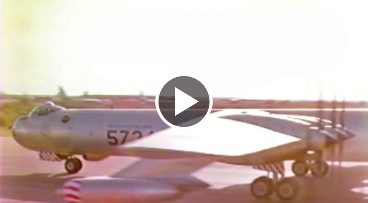 The Tremendous Sound Of B-36's 10 Engines On Takeoff ...