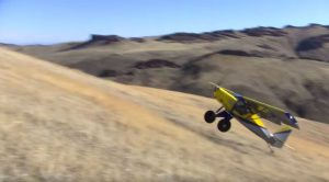 This Guy Lands On A Hill, Flips Around And Takes Off In Mere Feet