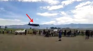 Corsair Pilot Dips Down Hauling A$$ Next To The Crowd