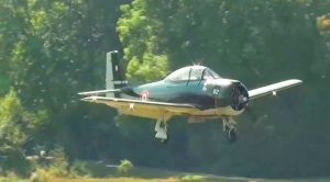 A True Rarity Of Aviation – T-28 Fennec Brings It Down For An Extremely Low Flyby