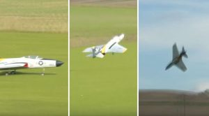 After Hours Of Work, This Rc F9F Cougar Has Shortest Flight Ever