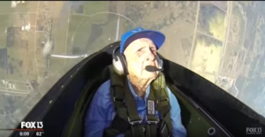 96-Year Old WW2 Pilot Flies Again And Feels Nostalgic