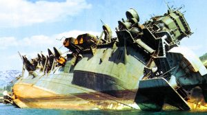 Wreckage Of Japan's Colossal Aircraft Carrier After A Savage American Bombarding