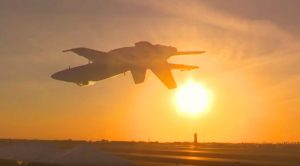 F-18 Super Hornet's Raw Power Rocketing Into The Sunset