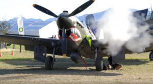 P40E Kittyhawk Test Firing Big Guns – Rattles Cameraman and Shakes Up Everything Around