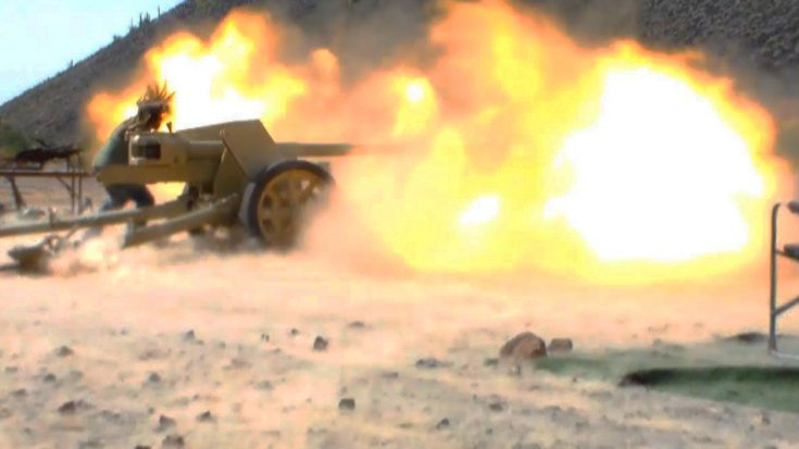 Overwhelming Explosion From WWII's Most Powerful Anti-Tank Gun | World War Wings Videos