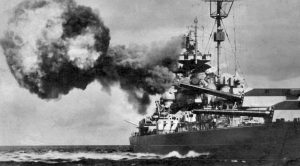 Rare Film Of Germany's Biggest Warship Pummeled By An Onslaught 12000-lb Bombs
