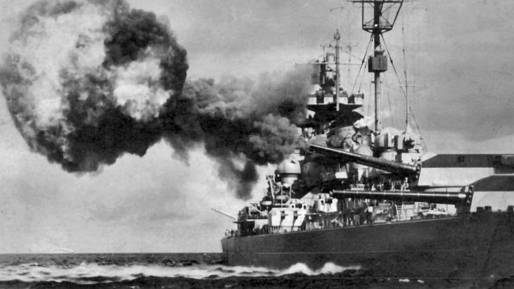 Rare Film Of Germany's Biggest Warship Pummeled By An Onslaught Of 12000-lb Bombs | World War Wings Videos