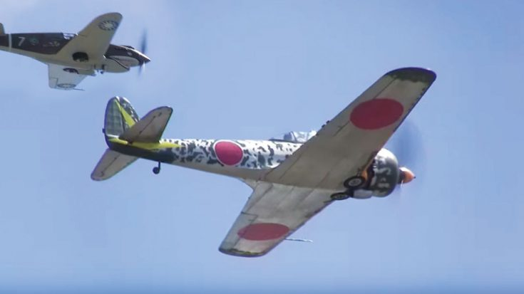 No Music. Pure Engines.-P-40C Tomahawk Dogfighting The Last Airworthy Ki-43 Oscar | World War Wings Videos