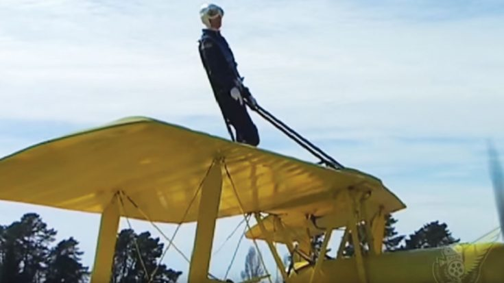 The Thrilling Flight Of 57 Year Old Cheryl Strapped To A Tiger Moth | World War Wings Videos