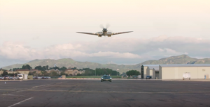 Military Green McLaren vs. WWII Supermarine Spitfire – It'll Take Your Breath Away!
