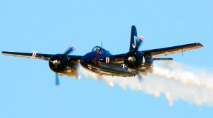 Legendary Pilot Clay Lacy Comes Down Hard And Fast In A Smokey F7F Tigercat
