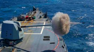 Powerhouse Mk 45 Gun Launches Huge Shells 20 Miles Away – This Attack Range Is Crazy!