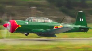 Nanchang CJ-6A Bolting Down Into An Epic Crash Landing – Keep An On The Propeller Blades