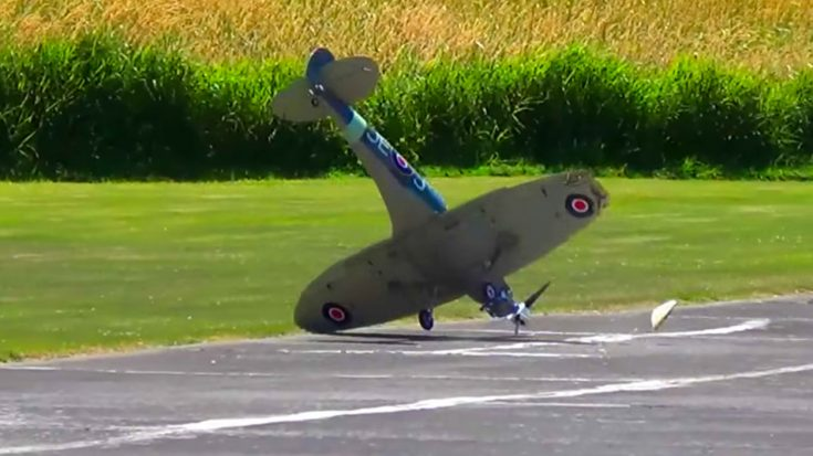 Gigantic Scale RC Spitfire Crashes Hard – Ouch, That Ain't Good | World War Wings Videos