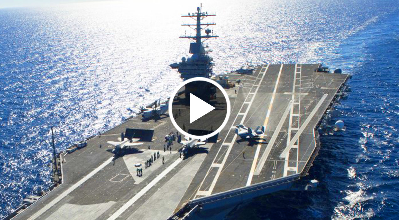 Gigantic Supercarrier Uss Gerald Ford Launches Sea Trials