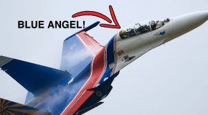 Blue Angels Flying In Russian Knight's Su-27s-First And Only Time In History