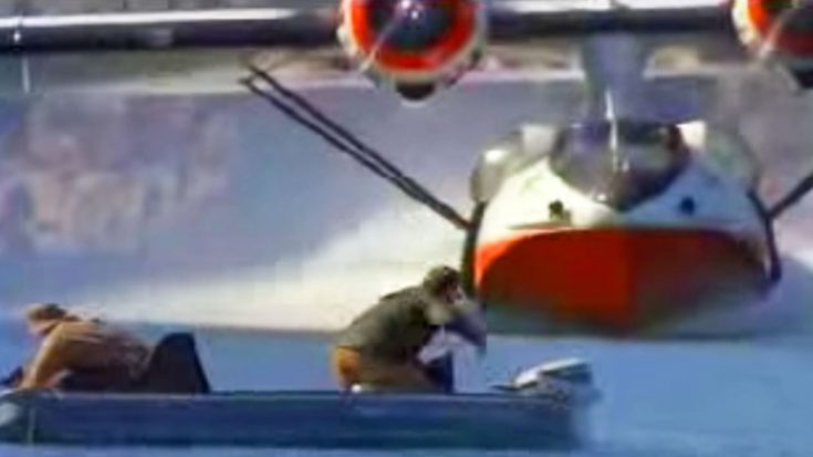 PBY Catalina Scares Fishermen Right Outta Their Boat- Gets Crazy Close | World War Wings Videos