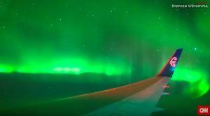 Passenger Films His Flight Going Through Southern Lights-Absolutely Stunning!