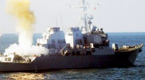 US Vessel Firing Most Of Its Weapons-Total Nightmare For The Enemy