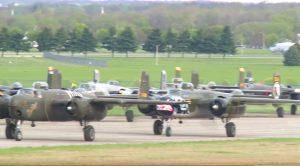 11 B-25 Mitchells Land In Ohio For An Epic Airshow-You Have To Check This Out