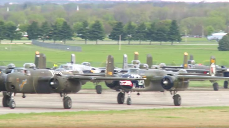 11 B-25 Mitchells Land In Ohio For An Epic Airshow-You Have To Check This Out | World War Wings Videos