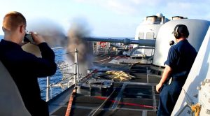 76mm Cannon Blast Shakes The Entire Ship – Insane Recoil On This Thing