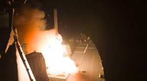 Vicious Destroyer Launches A Barrage Of Tomahawk Missiles At ISIS Forces