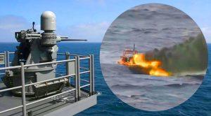 Ferocious Navy Guns Obliterate A Speeding Boat – That Isn't Even A Fight, It's A Massacre