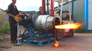 This Backyard Jet Engine Startup Could Have Gone Better – Keep Your Eyes On The Forklift