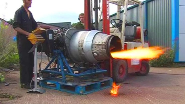 This Backyard Jet Engine Startup Could Have Gone Better – Keep Your Eyes On The Forklift | World War Wings Videos