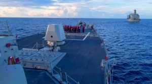 News| US Destroyer Challenges Chinese Military Base – China Intercepts With Missile Frigates