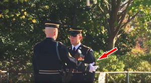 Guard Gets A Bayonet Through His Foot During Changing Of The Guard