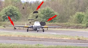 Vampire Literally Rips Up Runway During Air Show-You Gotta See It To Believe It