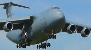 Colossal C-5M Super Galaxy Comes In For A Heavy Landing – Biggest Of The Big