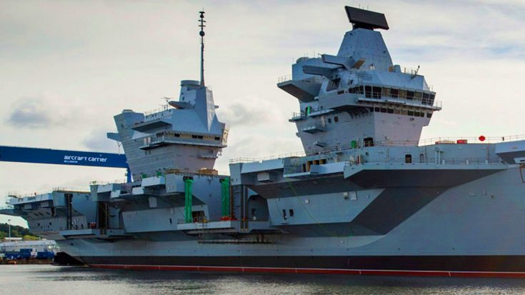 After Years Of Construction Britain's Biggest Warship Is ...