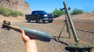 Bracketing Mortars On His Truck – Well That's A Fun Way To Spend An Afternoon
