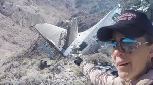 Hiker Visits The Site Of CIA's Albatross Crash In Death Valley