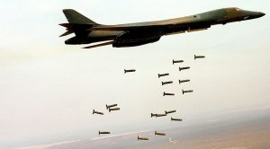 Rare Footage Of A B-1 Dropping Live Cluster Bombs On Targets-Just Devastating!